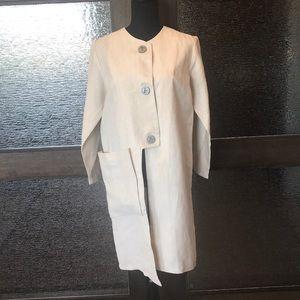 Artsy Asymetrical Linen Tunic